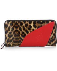 Christian Louboutin Suolita Sole-appliqueacute Leopard-print Wallet - Lyst