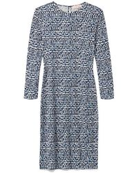 Tory Burch Silk Interlock Fitted Dress - Lyst