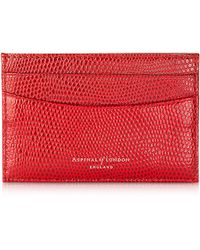 Aspinal Lizard Berry Slim Credit Card Case - Lyst