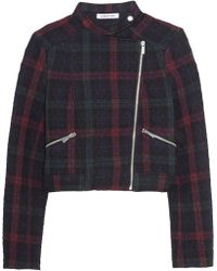 Elizabeth And James Patti Quilted Plaid Jersey Jacket - Lyst