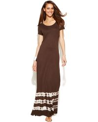 Inc International Concepts Cap Sleeve Tie Dye Maxi Dress - Lyst