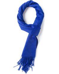 Mr Start Bright Blue Cashmere Scarf - Lyst