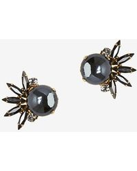 Tataborello - Crystal Glass Stud Earrings - Lyst