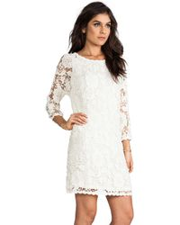 Velvet By Graham & Spencer Leslea Cotton Crochet Dress - Lyst