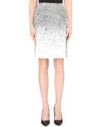Hugo Boss Vibrush Splatter-Print Pencil Skirt - For Women - Lyst