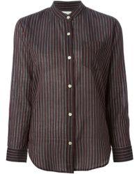 Etoile Isabel Marant Black Striped Shirt - Lyst