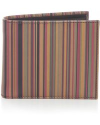 Paul Smith Stripe Wallet - Lyst