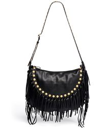 Valentino Gryphon Stud Fringe Leather Hobo Bag - Lyst