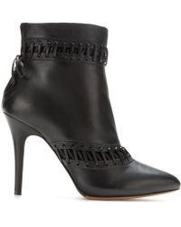 Tabitha Simmons Rue Leather Ankle Boots - Lyst