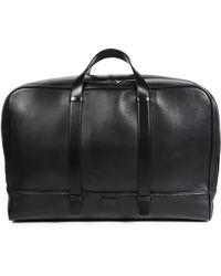 Giorgio Armani Smooth Leather Weekender Bag - Lyst