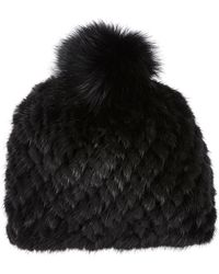 Barneys New York | Mink & Fox Fur Knit Beanie | Lyst