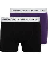 French Connection Black And Purple 2 Pack Boxer Set - Lyst