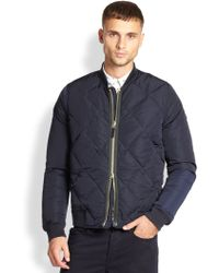 Paul Smith Quilted Bomber Jacket - Lyst