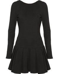 Kenzo Scoopback Ribbed Cotton Dress - Lyst