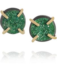 Melissa Joy Manning - 14-Karat Gold Uvarovite Garnet Earrings - Lyst