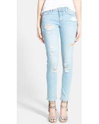 Paige 'Skyline' Ankle Peg Jeans - Lyst