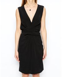 Asos Tulip Dress With Tie Detail - Lyst
