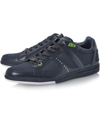 Hugo Boss Oshea Timeless Mixed Material Trainers - Lyst