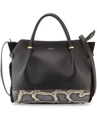 Nina Ricci Marche Snake  Leather Satchel Bag - Lyst