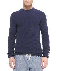 Vince Thermal Knit Long-sleeve Shirt - Lyst