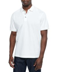 Robert Graham Woven Short-Sleeve Polo Shirt - Lyst