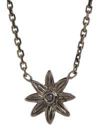 Stone - Black Diamond Black Gold Floral Pendant Necklace - Lyst