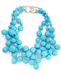 Kenneth Jay Lane Bead Cluster Necklace - Lyst