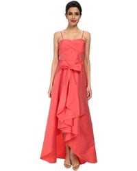 Adrianna Papell Strapless High Lo Taffeta Ball Gown - Lyst