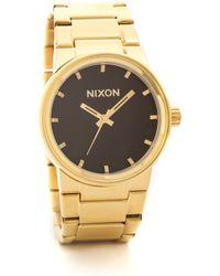 Nixon Cannon Watch - Goldblack - Lyst