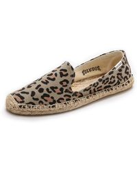 Soludos Leopard Smoking Slippers - Tan - Lyst