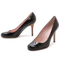 Kate Spade - Karolina Wooden Heel Court Shoes Black - Lyst