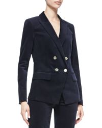Michael by Michael Kors Double-breasted Sateen Blazer - Lyst