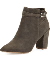 Steven By Steve Madden Lenna Suede Leather Bootie - Lyst