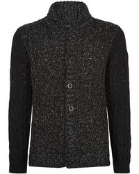 Diesel Cable Knit Cardigan - Lyst