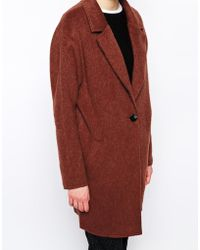 Libertine-Libertine Hawk Coat In Burnt Orange Wool - Lyst