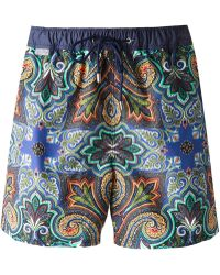 Etro Paisley-Print Swim Shorts - Lyst