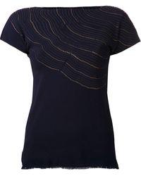 Issey Miyake Metallic Wave Tshirt - Lyst