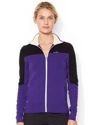Lauren by Ralph Lauren Colorblocked Zip-up Jacket - Lyst