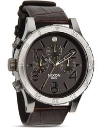 Nixon The 48-20 Chrono Alligator-embossed Leather Strap Watch 48mm - Lyst
