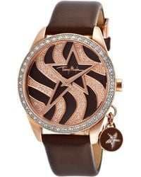 Thierry Mugler Women'S Brown Genuine Leather Brown Dial - Lyst