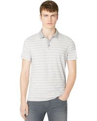 Calvin Klein Jeans Heather Stripe Polo - Lyst