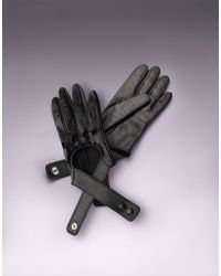Agent Provocateur - Cross Strap Leather Glove Black - Lyst