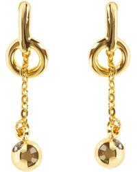 Karen Millen - Lariat Drop Earrings - Lyst