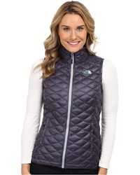 The North Face Blue Thermoball Vest - Lyst