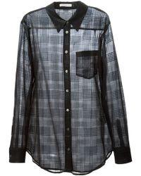 Equipment Sheer Shiny Check Shirt - Lyst