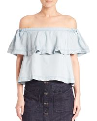 Free People | Off The Shoulder Crop Top | Lyst