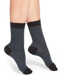 Pantherella | Herringbone Wool Blend Socks | Lyst