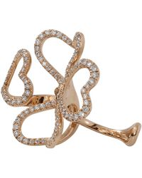 Inbar - Four Heart Two Finger Ring - Lyst