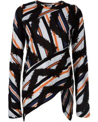 Proenza Schouler Tye Die Striped Top - Lyst