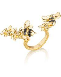 Mimi So - Wonderland 18k Gold Open-shank Bee Ring - Lyst